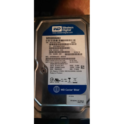 vente disque dur Western Digital 500GB
